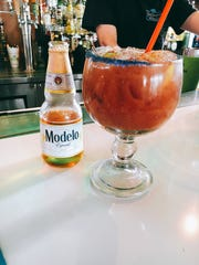This twist on a bloody mary, featuring Mexican beer,