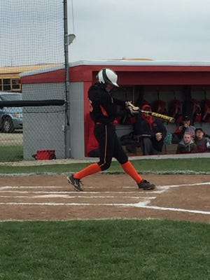 Gibsonburg's Sam deAnda had three hits Friday against St. Joseph Central Catholic. She also notched the win in the circle and hasn't allowed an earned run this season.