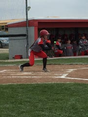SJCC's Callie Kelbley squares to bunt Friday.