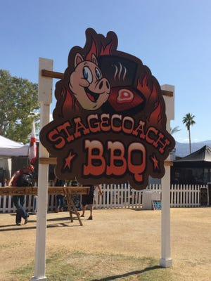 The entrance to the BBQ area at Stagecoach.