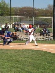 Port Clinton's Seth Monk singles Friday in the second