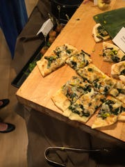 Forager's Flatbread is made with wild ramps and garlic mustard at the new Millstone Cafe at the Brandywine River Museum of Art.
