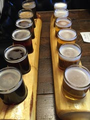 Two flights of beer are required to taste all the options at Meadowlark Brewing in Sidney.
