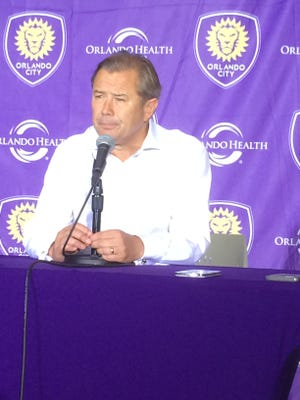 Orlando City head coach Adrian Heath was suspended for Sunday's game against Sporting Kansas City.
