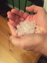 Hail hit Mt. Juliet about 11:30 p.m. on May 10, 2016.