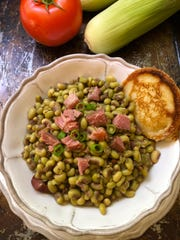 Cook fresh-shelled pink lady peas with ham and a little bacon grease or olive oil, if you prefer.