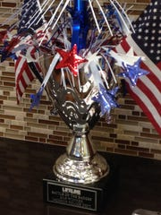 LIFELINE Blood Services will present this trophy to the public service agency that has the most donors in the Battle of the Badges Blood Drive.