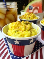 Dill pickles, pickle juice and mustard give kick to Southern Potato Salad.