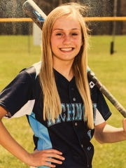 Richmond softball player Carley Barjaktarovich