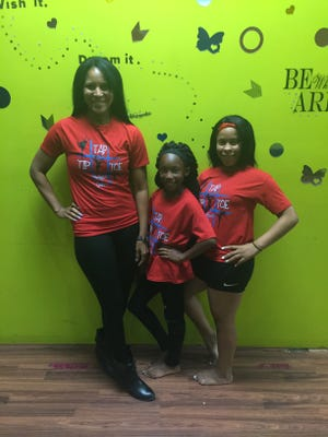 Justine Sampy, director of the Tip Tap Toe School of Dance, and dancers Kiamoria Thomas and Jada Sam, are part of this weekend's Dance Like a Doll workshop.