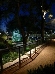 A view of San Antonio's River Walk from Supper, Hotel Emma's restaurant.
