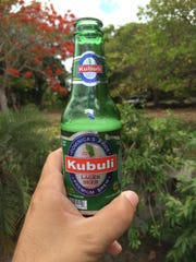 Kubuli is brewed in the Dominican Republic and is an adjunct lager.  It's a golden yellow with ample carbonation and tastes of German hops and cereal grains and not much else.