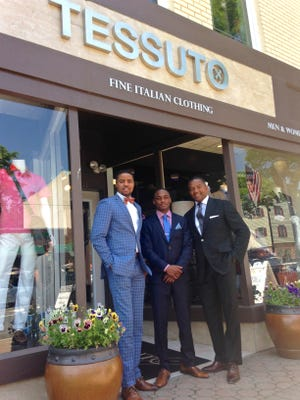 Ashley, Jordan and Ernst Michel, owners of Tessuto.
