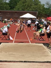 St. Joseph Central Catholic's Ava Stepanic was 11th in the long jump Friday.