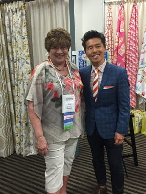 Decorating Den owner Maryann Fisher was inspired by the latest trends shared by celebrity designer Vern Yip.