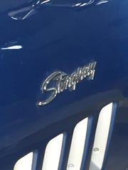 Stingray emblem on a 1969 Chevy Corvette.
