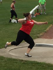 Port Clinton's Morrisa Mallory finished third in the shot put at the Division II state track meet Saturday.