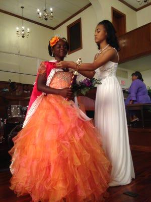 Tameia Hemphill, 11, is crowned Junior Miss Hub City on Sunday, May 5, 2016.