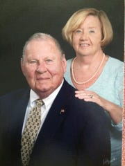 Former Fremont resident and professional wrestler Danny Miller with his wife, Karin.
