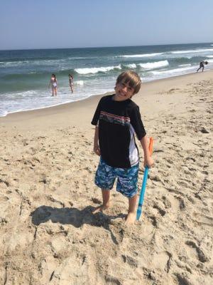 Jack having fun on the beach.