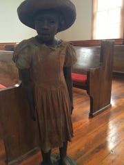 Ann Hawthorne was one of 40 life-sized statues of slave children at the Whitney Plantation in Louisiana.