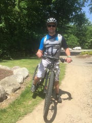 Christian Mooradian gets ready to ride the trails at