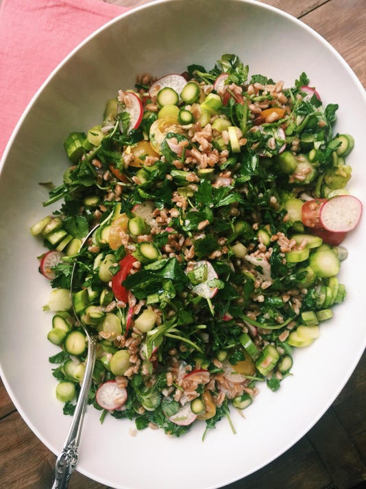 Food Deadline Farro and Vegetable Salad