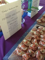 The Mule Bar in Winooski made pickled egg pate for the Burlington Wine and Food Festival.