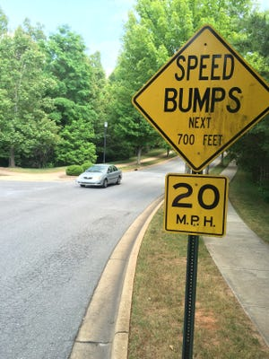 The city of Asheville has a large backlog of streets that are in need of speed humps to slow traffic.