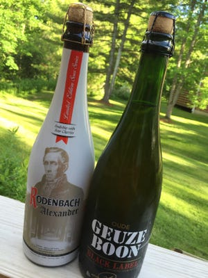 "Rodenbach ""Alexander"" is a Flemish sour and Boon ""Black Label"" Geuze, a lambic style beer."