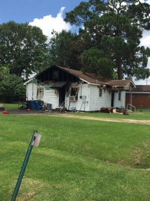 Lafayette firefighters responded to a house fire at 1005 Cajundome Boulevard around 10:24 a.m. The home sustained heavy damage.