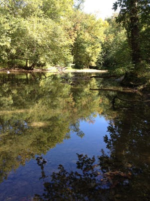 The Mississinewa River is shown at Red-Tail Land Conservancy's Mississinewa Woods Preserve.