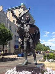 A statue of Alexander Hamilton by sculptor Kristen