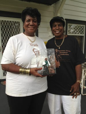 Velma Laws-Clay, right, and her sister, Vivian Laws-Ritter, in 2012.