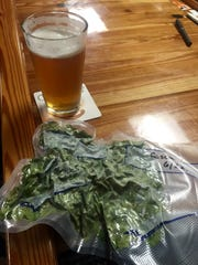 Frank Hiller's frozen and vacuum-packed hops at the