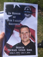 Officer Michael Krol was among the police officers killed in Dallas on July 7, 2016. His funeral was Tuesday, July 19, 2016, in Redford.