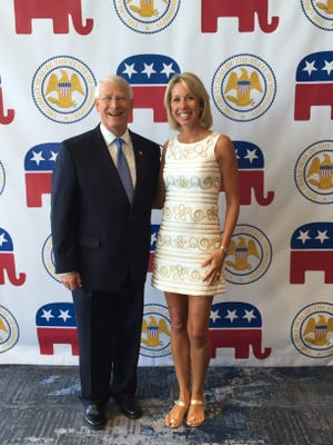 Megan Mullen, pictured with U.S. Senator Roger Wicker. Mullen and Wicker both served as delegates for Mississippi at the Republican National Convention in Cleveland.