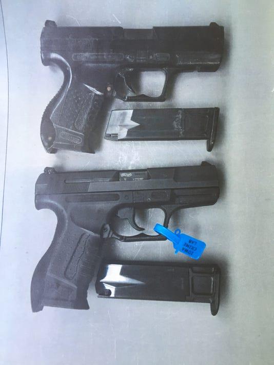 Michael Disbrowe air soft gun