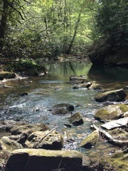 Horse Lick Creek in Jackson County, part of property purchased for protection by The Nature Conservancy.
