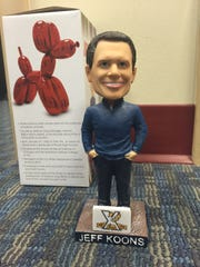 Jeff Koons bobbleheads will be given to the first 1,500 fans at Friday's York Revolution game. The bobblehead giveaway is part of a series to celebrate the Revolution's 10th anniversary season.
