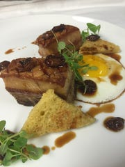 """Deconstructed """"Toad in the Hole"""" features roast pork"""