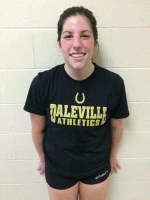 Lindsay Ingenito had 11 kills and 10 digs for Daleville in a win Tuesday.