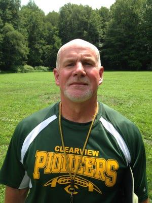 Clearview High School football coach Mark Deal