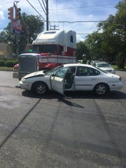 No serious injuries were reported after this two vehicle