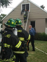 Vineland firefighters on the scene of a residential