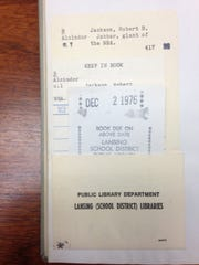Two books nearly 40 years overdue were returned to the downtown branch of the Capital Area District Library sometime over the weekend of Aug. 20-21, 2016.