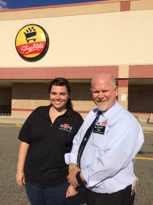 Becky Hand and Don Morgan helped save a customer at the Byram ShopRite.