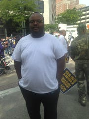 Devonte Yates, a member of the Fight for 15 organization,