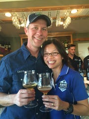 Dave and Quyhn Rathkamp of Save the World Brewing.