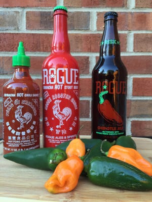 """Rogue, a brewery in Oregon, brews """"Sriracha Hot Stout"""" and """"Chipotle Ale,"""" part of a recent trend of pepper-infused beers"""